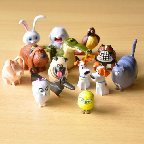 14PCS Secret Life of Pets Movie Deluxe Cup cake Topper Action Figures Kids Gift