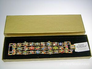 SWEET-ROMANCE-Millefiori-Triple-Bracelet-Discontinued-New-in-Box