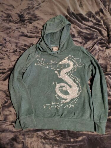 Official Spirited Away Green Dragon Hoodie Sz Smal
