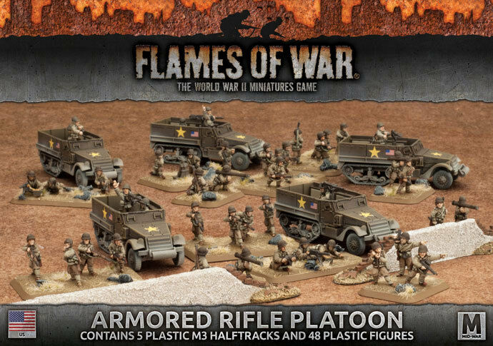 Flames of War Entièrement neuf dans sa boîte ARMoruge RIFLE PLATOON (plastique) UBX51