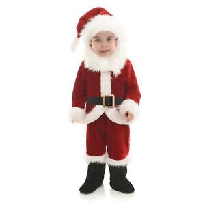 Baby Toddler Kids Classic Santa Claus Christmas Velvet Costume + Hat M 18-24 Mo.