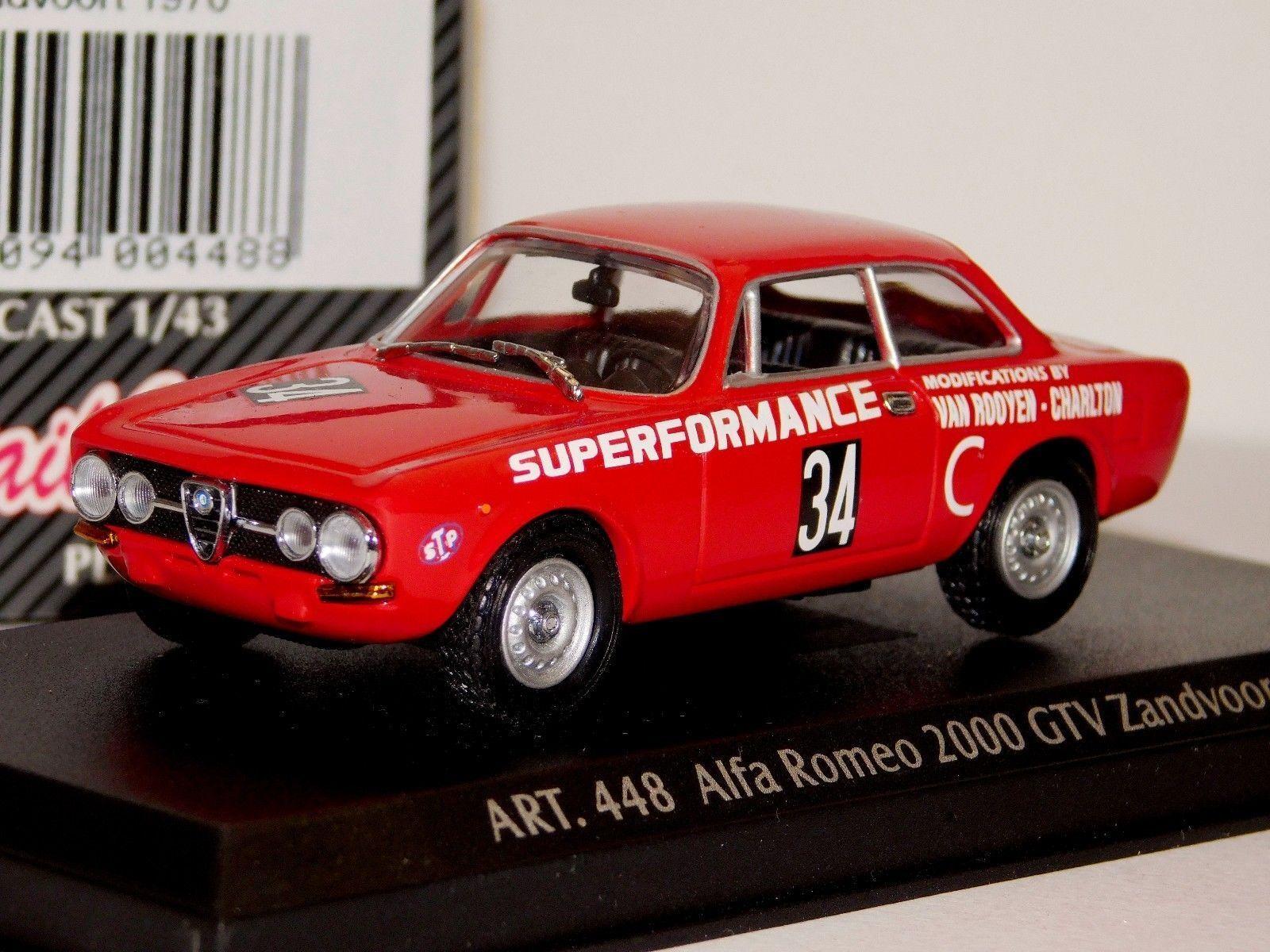 ALFA ROMEO 1750 GTV ZANDVOORT 1970 DETAIL CARS ART 448 448 448 1 43 03ed70