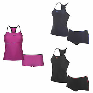 Slazenger Ladies Womens Tankini Swimming Swim Costume 6 8 10 12 14