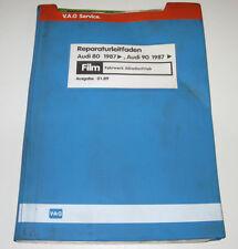Microfich Technische Merkblätter Audi 80 / 90 Typ 89 B3 Fahrwerk Quattro 1989!