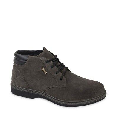 VALLEVERDE VL51812 scarponcini polacchini scarpe uomo in pelle grigio VALLETEX