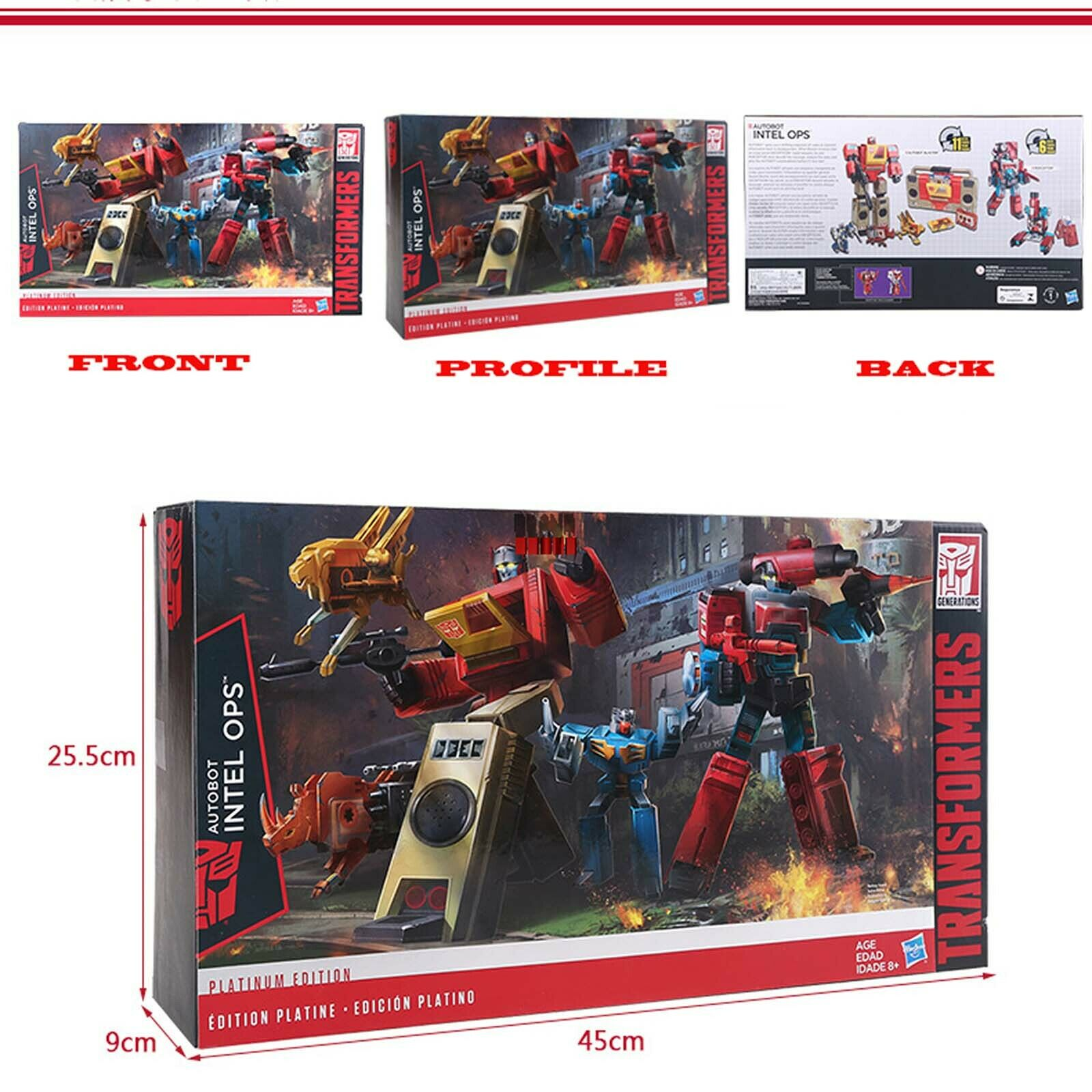 Subasta ! Transformers g1 Platinum Edition Autobots inter ops Blaster perceptor