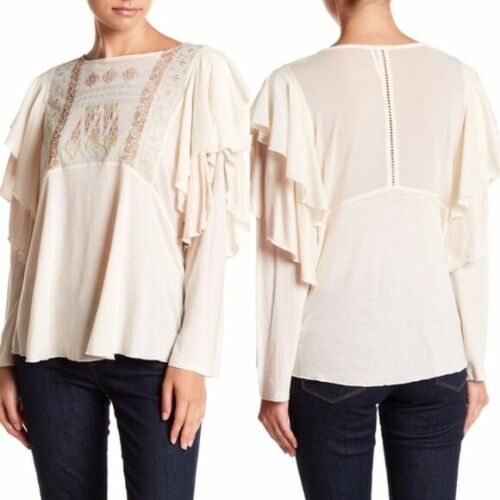 Free People Tops | La Cienega Blouse | Long sleeve