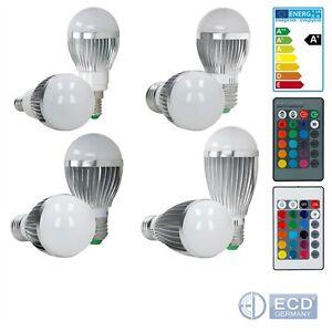 Das Bild Wird Geladen E14 E27 3W 5W 9W RGB LED BIRNE