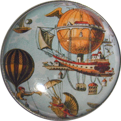 "Crystal Dome Button Hot Air Balloon /& Air Ships HABO9-1  /& 3//8/"" Free US Shippin"
