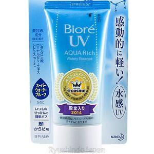 2017-JAPAN-MODEL-Kao-BIORE-UV-Aqua-Rich-Watery-Essence-Sunscreen-SPF50-PA