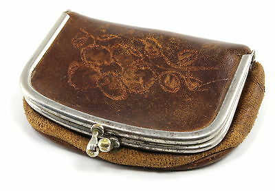 vintage leather coin purse ebay
