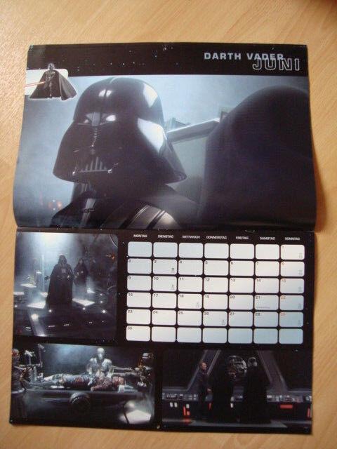 STAR WARS - Die Die Die dunkle Seite der Macht Kalender 2008 Sammlerstück 45x30cm a4caf6