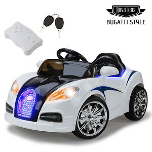 NEW-Kids-Ride-On-Electric-Car-Bugatti-Style-Battery-Children-Sports-Toy-Remote