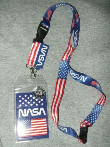 New Nasa Kennedy Space Center Roblox Nasa Lanyard Usa Flag Kennedy Space Center Shuttle Work Id Card Key Badge Charm Innovatis Suisse Ch
