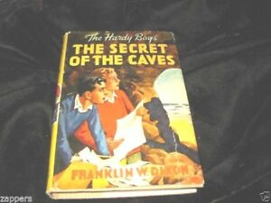 HARDY-BOYS-THE-SECRET-FO-THE-CAVES-HB-WITH-DJ-RED-FYLEAF-NAME-PLATE-ON-FLYLEAF-1