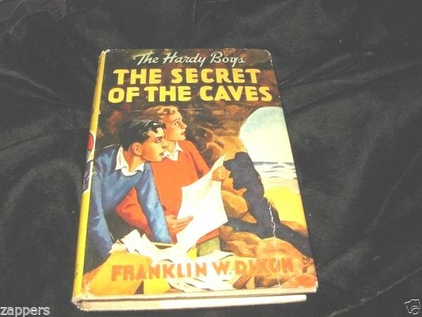 HARDY BOYS THE SECRET FO THE CAVES HB WITH DJ RED FYLEAF NAME PLATE ON FLYLEAF 1