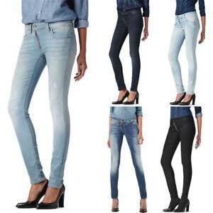 G-Star Lynn Zip Mid Waist Skinny Damen Jeans Hose Jeanshose Röhrenjeans