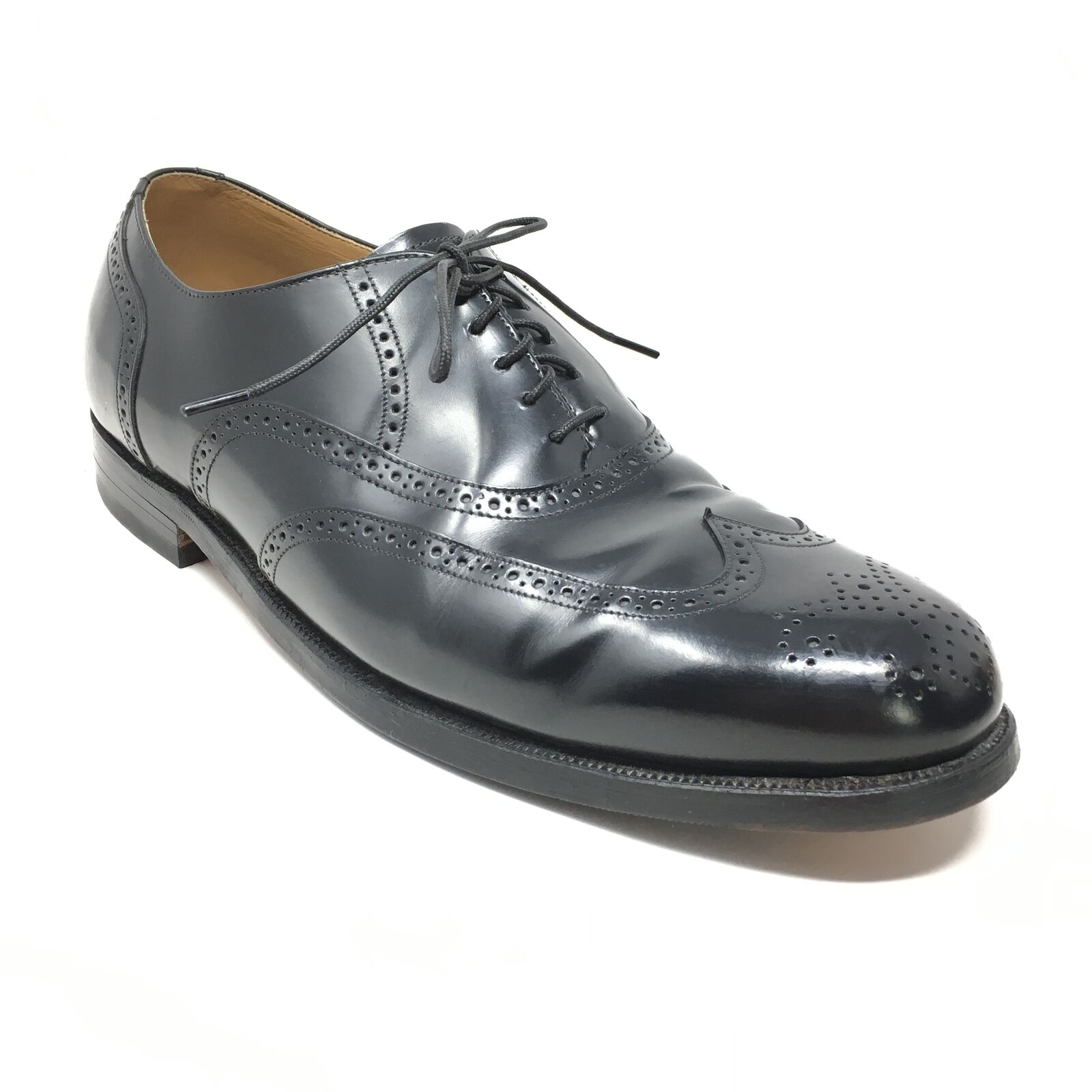Men's Johnston & Murphy Waverly Oxfords Dress Shoes Size 12 Black Leather AJ4