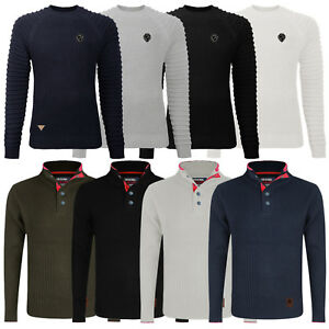 Mens-Crew-Neck-Jumper-Stallion-Knitwear-Sweaters-Top-Pullover-Knitted-Jacket-New