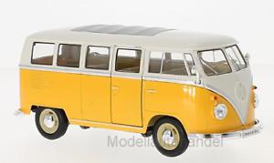 1:24 Welly />/> New /</< matrícula VW t1 furgoneta 1963 amarillo//blanco