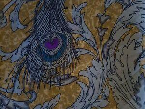Large-Italian-Silk-peacock-scarf-Ditsy-Vintage