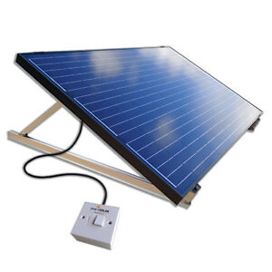 250w plug in diy solar panel pv kit system ground mount kit garden patio shed ebay. Black Bedroom Furniture Sets. Home Design Ideas