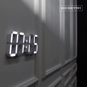 Image Is Loading Roiretni White Modern Smart Led Digital Wall Clock
