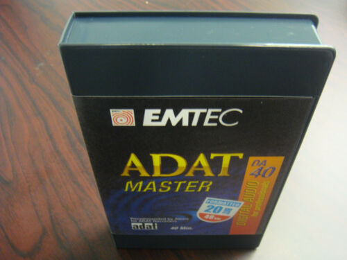EMTEC PRO 40 MINUTE ADAT TAPE MASTER 20 BIT FORMATTED 3 PACK BRAND NEW