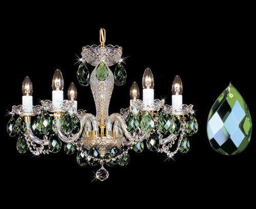 Kristall Kronleuchter Bohemia ~ Bohemia kristall kronleuchter color grün ebay