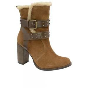 Ladies Real Winter Vernon Uk Tan Ravel Boots 5 Suede Leather Heeled Ankle High RRxwrZ
