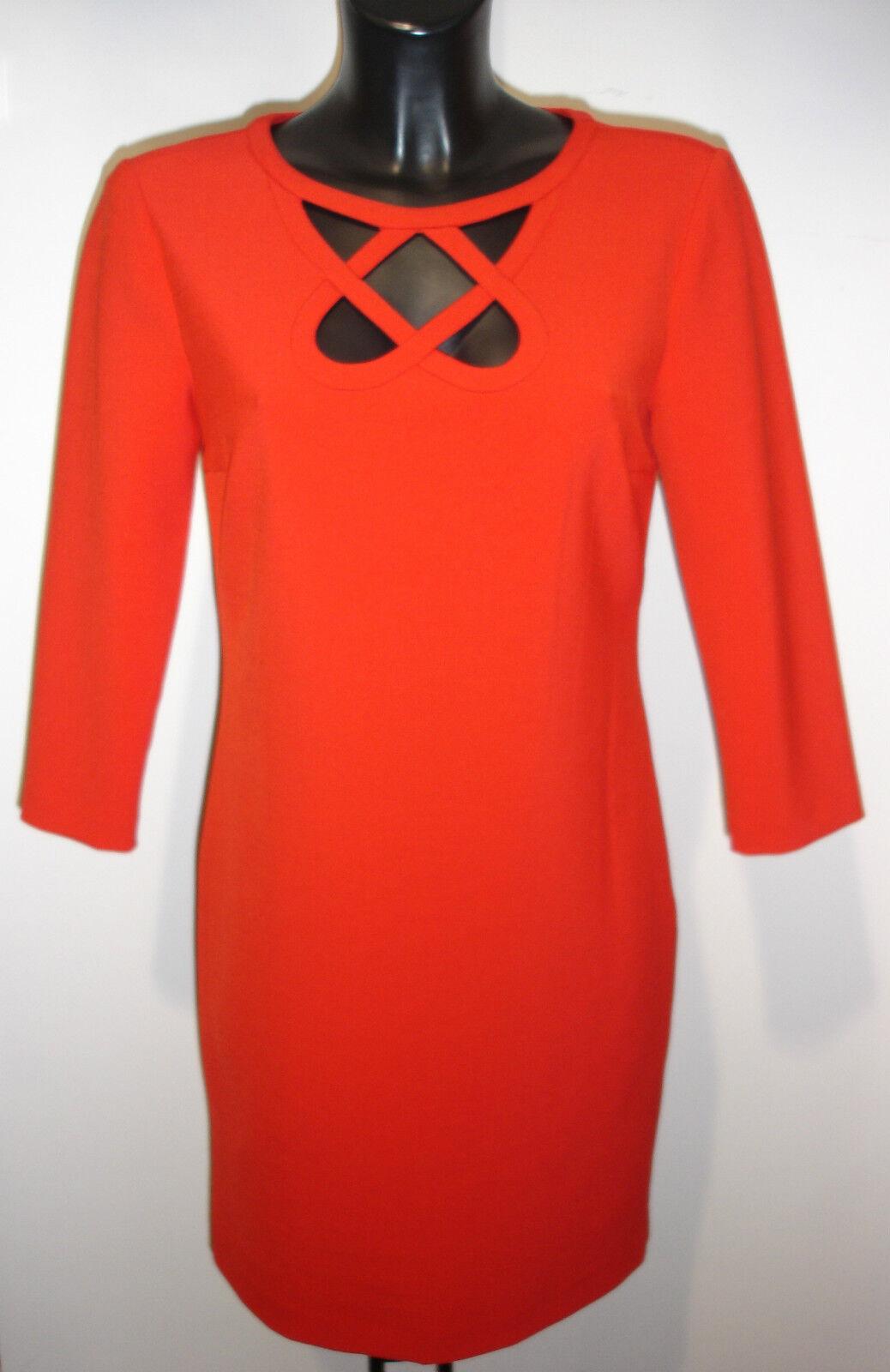 DIANE VON FURSTENBERG DVF RED STRAIGHT DRESS BNWT size