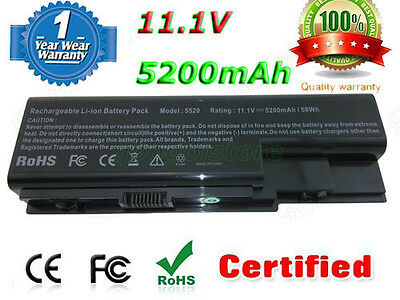 Laptop Battery for Acer Aspire 5310 5715Z 6935G 7730 AS07B51 AS07B52 AS07B72 6Cl