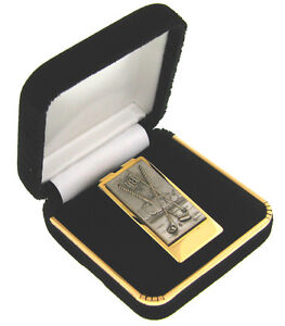 22K-GOLD-PLATED-amp-PEWTER-GOLF-MONEY-CLIP-MADE-IN-USA