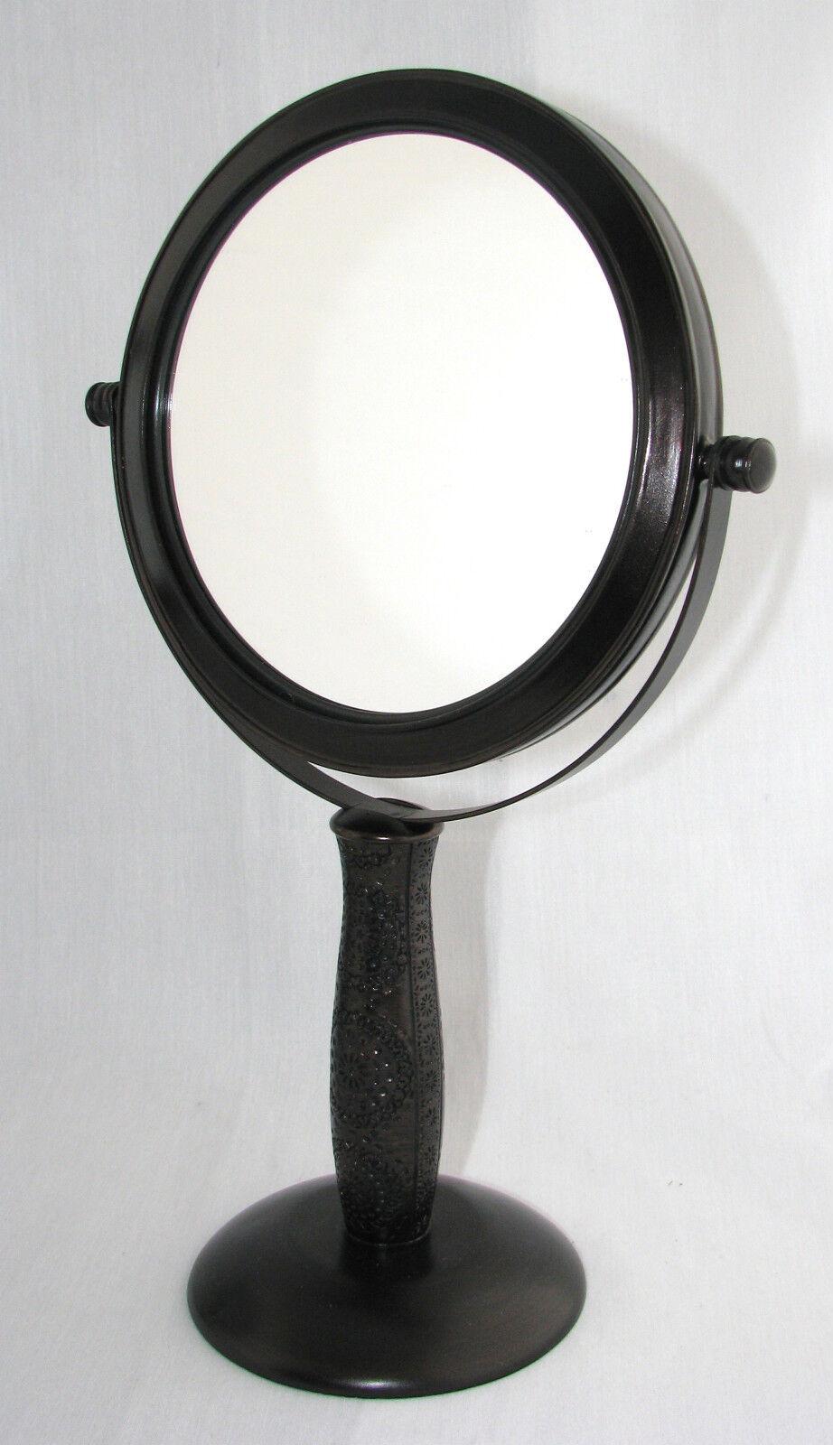 Neu Neu Neu Kompliziert Detaillierte Braunes Metall 5x Doppel Seitig Eitelkeit, 21fc08