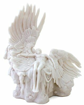 12 Inch Greek God Icarus Mythology Statue Collectible Wings Figure Museum