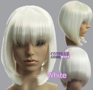 Newjf1133 Vogue Short Fashion Popular Bob Health White Hair Wig Wigs For Women Ebay