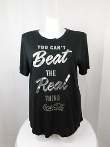 35a1ff189fc Mighty Fine Trendy Plus Size Coca-Cola Graphic Tee Shirt 1X Black ...