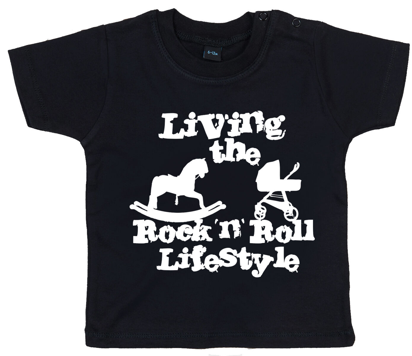 "Funny Baby T-Shirt /""Living the Rock n Roll Lifestyle/"" Boy Girl Clothes"