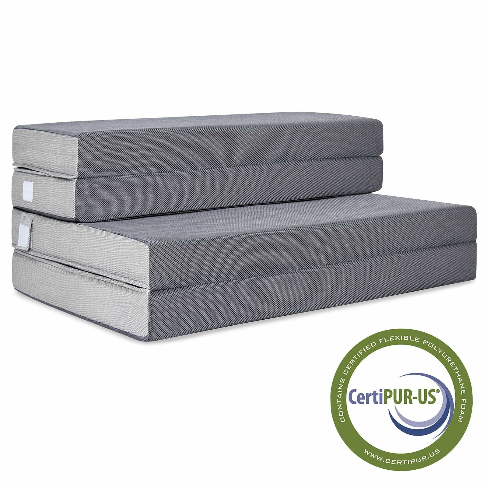 4  portable Folding Full Mattress Foam Cushion Pad Sleep Camping Guests de plein air