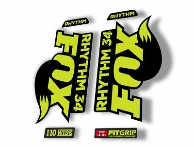 FOX 34 Float 2018-19 Forks Suspension Factory Decals Sticker Adhesive Lime Blue