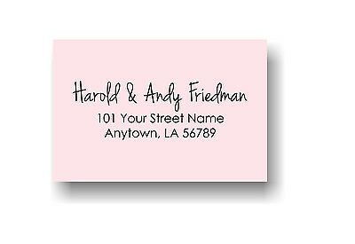 Personalized Custom Made Handle Mounted Rubber Stamp Return Address Wedding R229