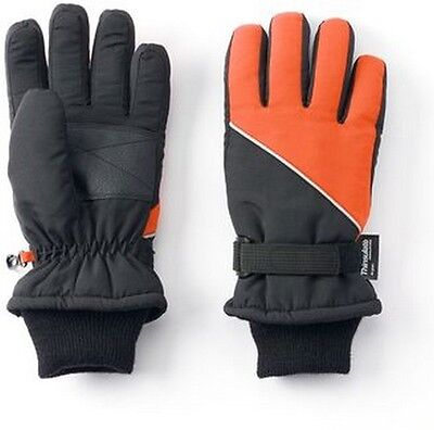 NWT GAP Nylon Contrast Snow Ski Gloves 100 gram Thinsulate Insulation Boys Large