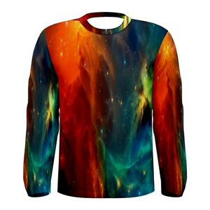 a697becaa Details about Red Nebula Galaxy Universe Outer Space Sublimated Mens Long  Sleeve T-shirt S-3xl