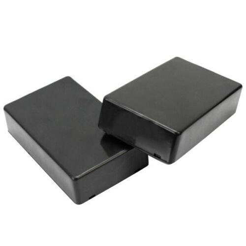 2 Pcs ABS Black Plastic Electronics Project Instrument Box Enclosure Hobby Case