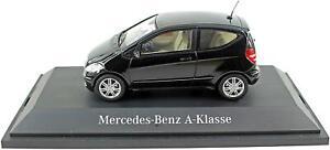 MERCEDES-Benz-B66961987-CLASSE-A-3-porte-auto-in-nero-1-43-SCALA-DIECAST-MODELLO