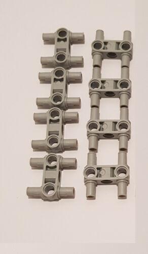 8x Lego Technic Pin Verbinder 48989 hellgrau senkrecht Verbinder 4 Pins 4225033