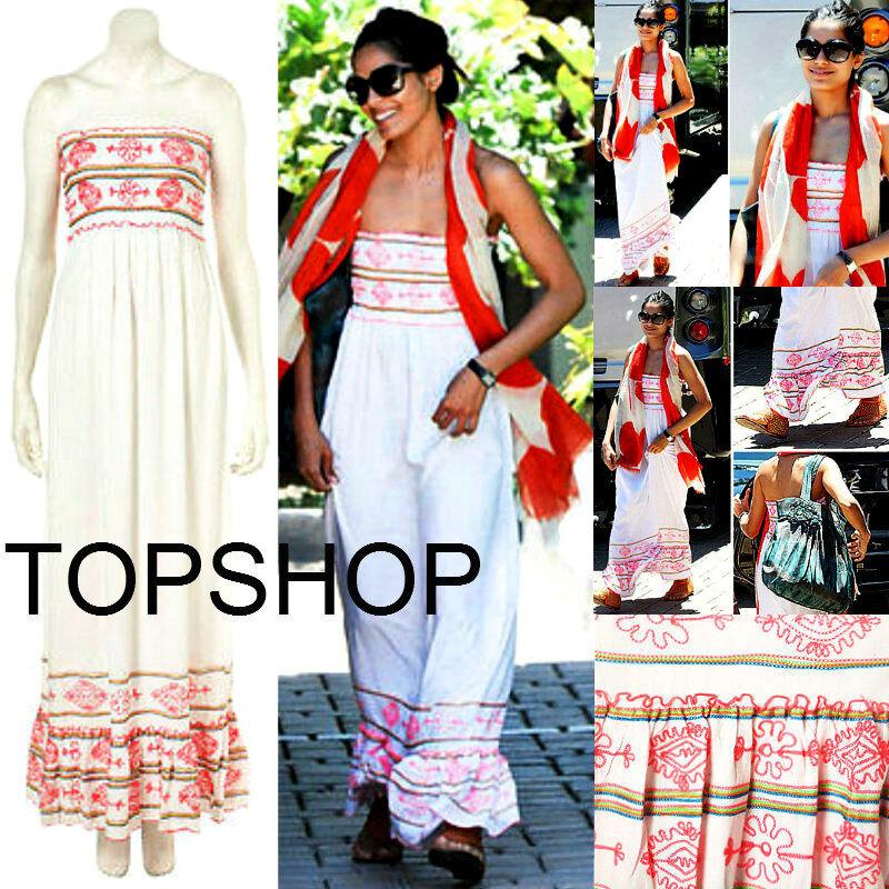 BRANDNEW TOPSHOP SUMMER BEACHWEDDINGEVENING Embroidery MAXI DRESS  SOLDOUT