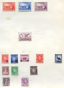 Australia-1937-to-1950-mint-run-on-3-pages-cat-over-86-00-2016-011-02-10