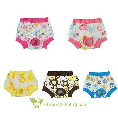Fitwarm Female Cotton Dog Diapers Pet Sanitary Pants Nappies For Season Heat
