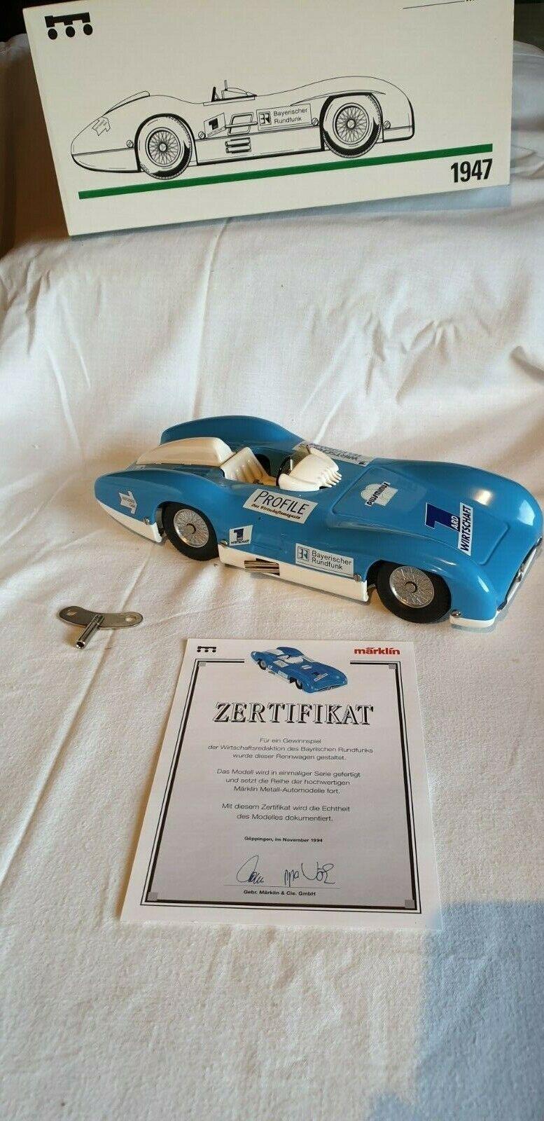 Märklin métal Voiture de course bavaroise RADIODIFFUSION Nº 1947 DE 1994 NEUF, neuf dans sa boîte
